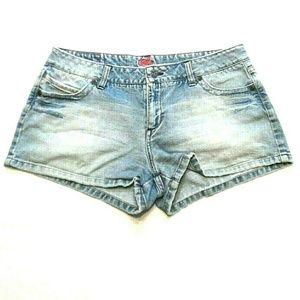 Jade Juniors Booty Shorts Distressed Shorty